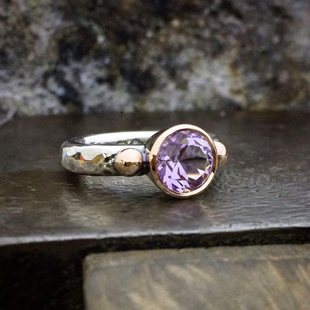 Sweet little Amethyst with rose gold and silver. For sale @theempressandwolf  in Daylesford Victoria @laurenharrisjewellery